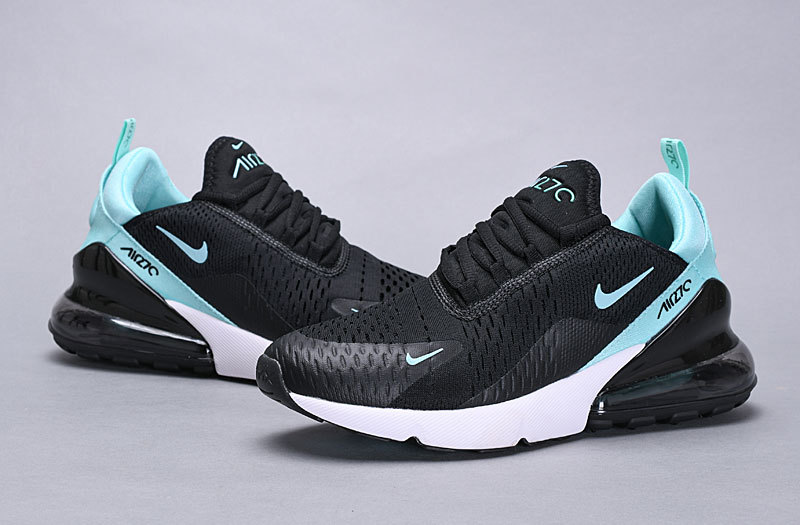 cheap new style look out for Nike Air Max 270 Flyknit Black Ocean Blue White Women's Men's Casual Shoes  NIKE-ST005697
