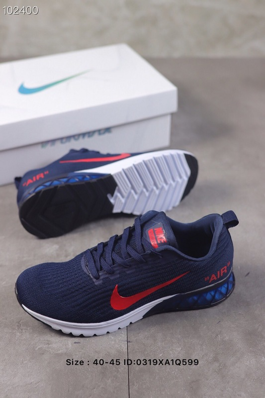 35d275bab6c5 Nike Air Vapormax Flyknit 2019 Red White Bule Men s Running Shoes ...