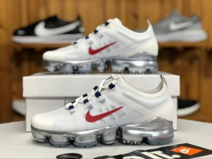 d8606863a0a Nike Air VaporMax 2019 White   Red AR6632-006 Women s Running Shoes