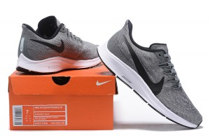 aa189c90ea87 Nike Air Zoom Pegasus 36 Wolf Grey Black White AQ2210 006 Men s Casual Shoes