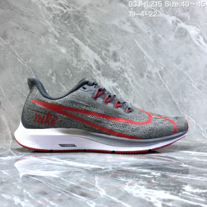 de4497d2b3f4 Nike Air Zoom Pegasus 36 Wolf Grey Red White Men s Casual Shoes