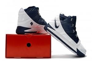 3a3fa999419a Nike LeBron 3 White Midnight Navy-Metallic Silver AO2434-103 Men s  Basketball Shoes