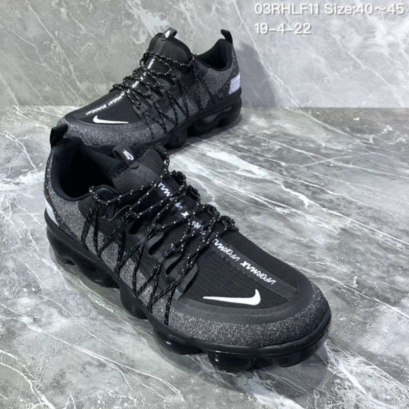separation shoes 4767f 78e8d Nike Air VaporMax Flyknit 2018 Black Men's Running Shoes NIKE-ST005965