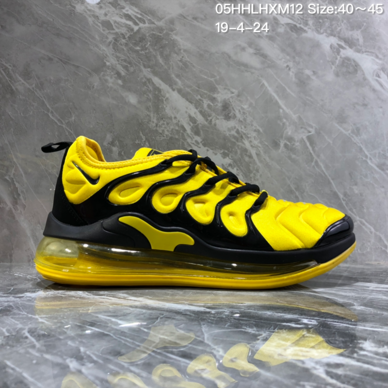 official photos 06c1f 8a361 Nike Air Vapormax Plus Tn-720 Black Yellow Trainer Men's Running Shoes  NIKE-ST005984