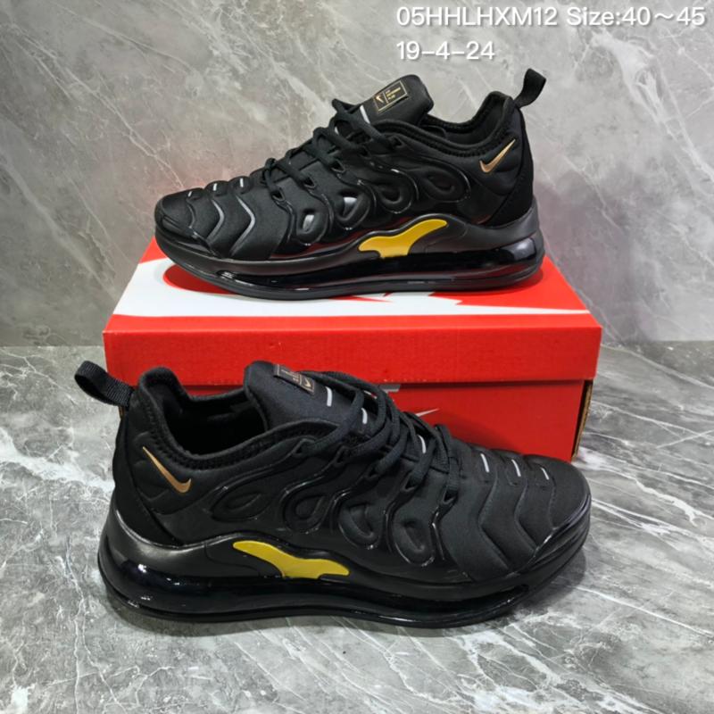 online store 0b1e2 3d01b Nike Air Vapormax Plus Tn-720 Black Gold Trainer Men's Running Shoes  NIKE-ST005983