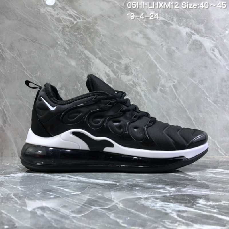 detailed look 0a517 c16bf Nike Air Vapormax Plus Tn-720 Black White Trainer Men's Running Shoes  NIKE-ST005988