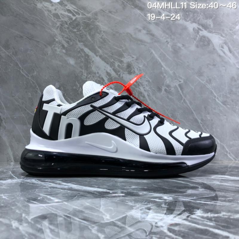 a192b79e20077 Nike Air Vapormax Plus Tn-720 Kpu Black White Trainer Men s Running Shoes  ...