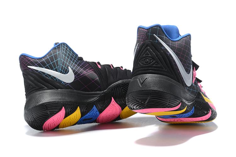 48225846296c Nike Kyrie Irving 5 PE Black Orange White Pink Multi-Color Men s Basketball  Shoes