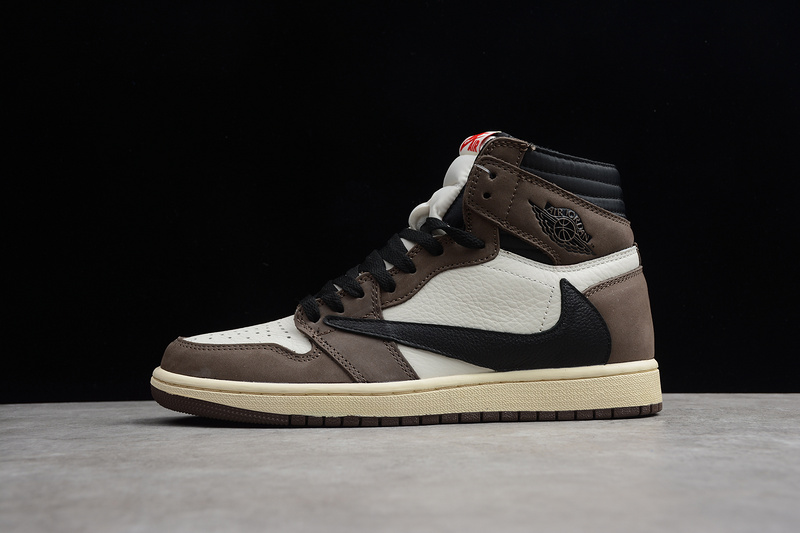 super popular 47194 1e6b1 Nike Air Jordan 1 Retro High Travis Scott CD4487-100 Mens Athletic  Basketball Shoes CD4487-100