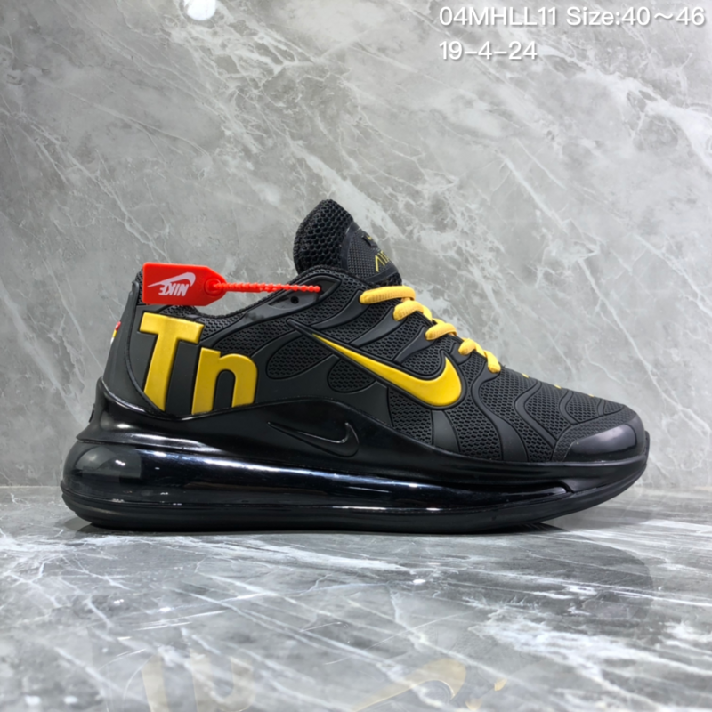best service 65571 ce995 Nike Air Vapormax Plus Tn-720 Kpu Black Yellow Trainer Men's Running Shoes  NIKE-ST005990