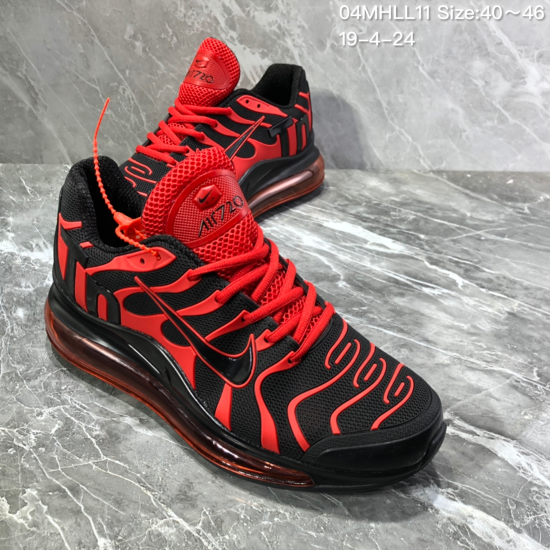online retailer 3cf40 9df61 Nike Air Vapormax Plus Tn-720 Kpu Black Red Trainer Men's Running Shoes  NIKE-ST005992