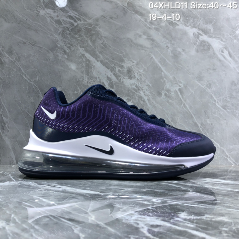 c9732ef20fe7 Nike Air Max 720 White Black Purple Men s Casual Shoes NIKE-ST005875 ...