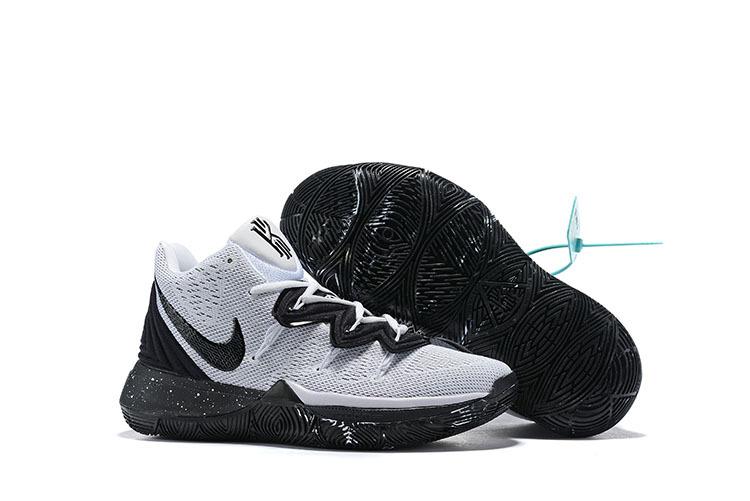 e408a0a41357 Nike Kyrie 5 Cookies   Cream White Black AO2918-100 Men s Basketball Shoes