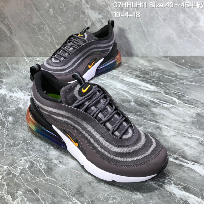 best service 42401 c6a9e Nike Air Max 97/270 White Black Brown Men's Casual Shoes NIKE-ST005967