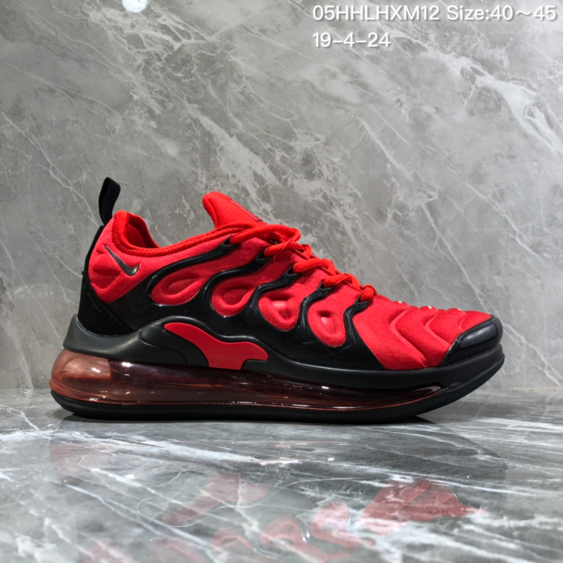 info for 17307 648ee Nike Air Vapormax Plus Tn-720 Black Red Trainer Men's Running Shoes  NIKE-ST005986
