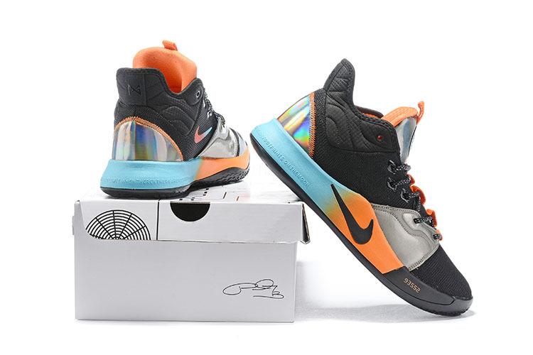 more photos 621ab 68e98 Nike PG 3 Black Blue Orange Silver Multi-Color Basketball Shoes  NIKE-ST005928