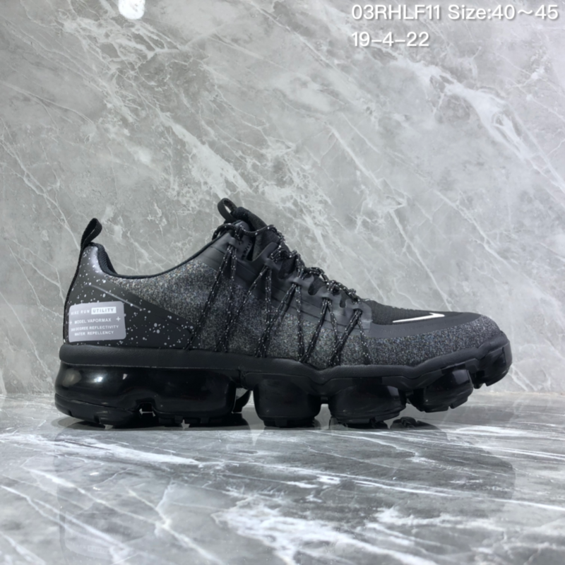 separation shoes 26eb6 34d6f Nike Air VaporMax Flyknit 2018 Black Men's Running Shoes NIKE-ST005965