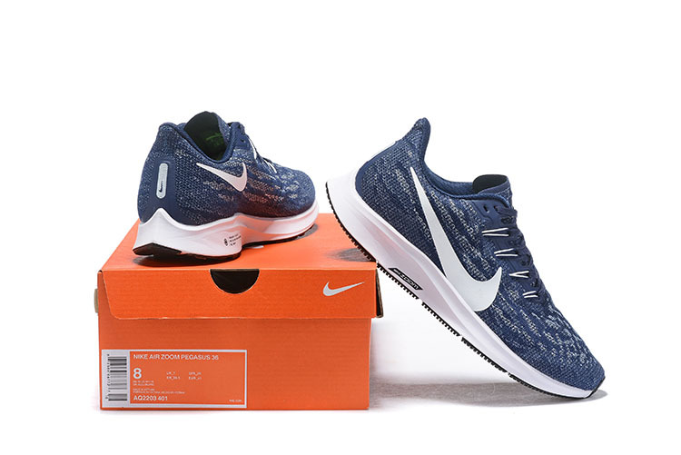 huge selection of c362d 7bbba Nike Air Zoom Pegasus 36 Navy Blue White AQ2203 401 Men's Casual Shoes  AQ2203-401