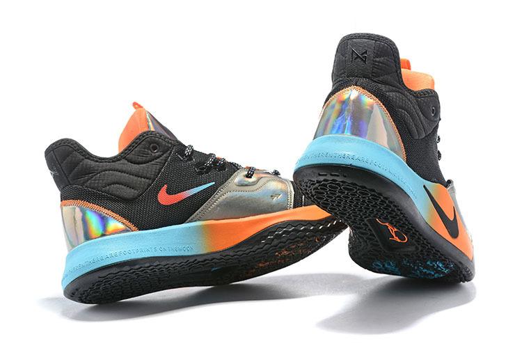 more photos 0054d 51607 Nike PG 3 Black Blue Orange Silver Multi-Color Basketball Shoes  NIKE-ST005928
