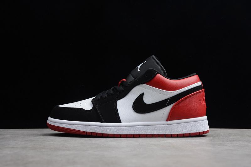 official photos d3a37 b4875 Nike Air Jordan 1 Low Black Toe 553558-116 Womens Mens Athletic Basketball  Shoes 553558-116
