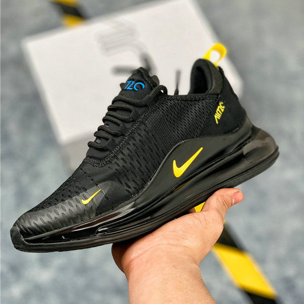 best sneakers 61c34 0e59c Nike Air Max 720 Black Yellow Men s Casual Shoes NIKE-ST006289    WithTheSale.com