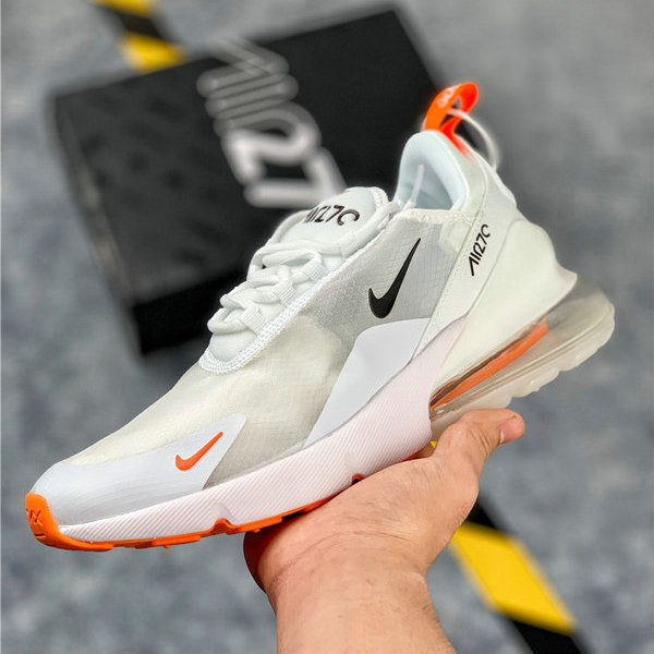 save off 07459 c0ed1 Nike Air Max 270 Orange White Mens Women's Casual Shoes NIKE-ST006270