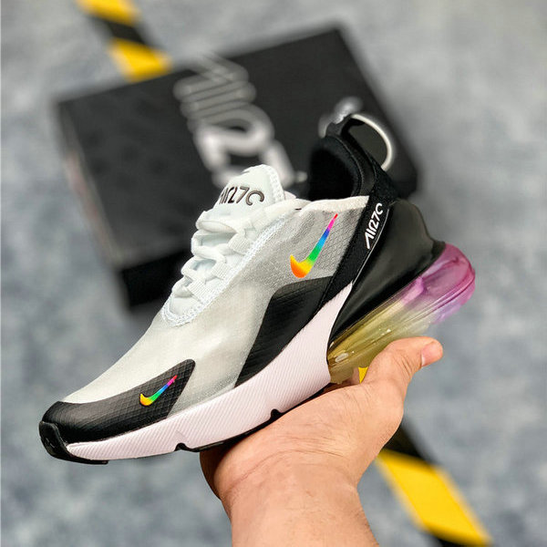 save off 76fa9 0b79c Nike Air Max 270 Black White Multicolor Mens Women's Casual Shoes  NIKE-ST006271