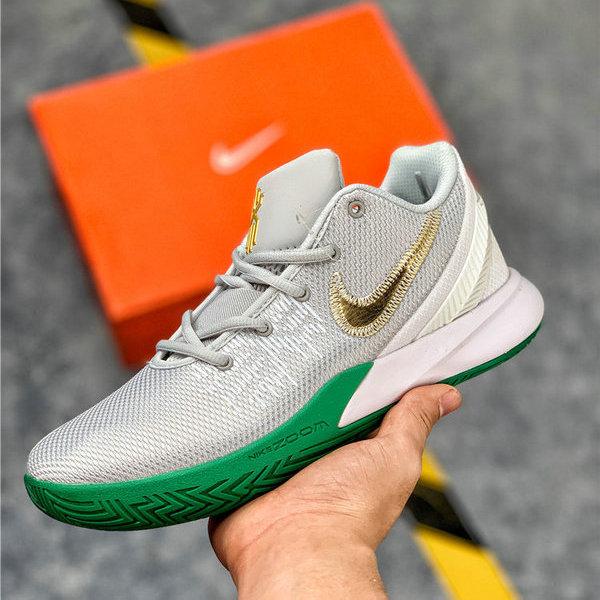 32fe7ac04c83 Cheap Nike Kyrie Flytrap EP II White Gray Green Men s Basketball Shoes NIKE-ST006045