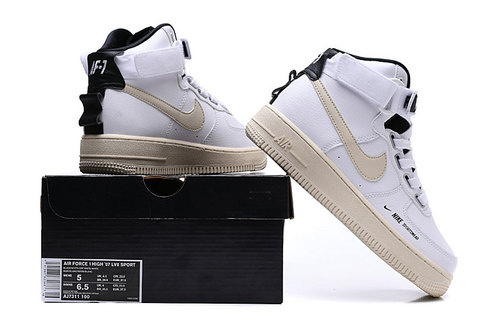 buy popular 4a84d f62c5 Nike Air Force 1 High Utility White Light Cream Black AJ7311 100 Women s  Sneakers