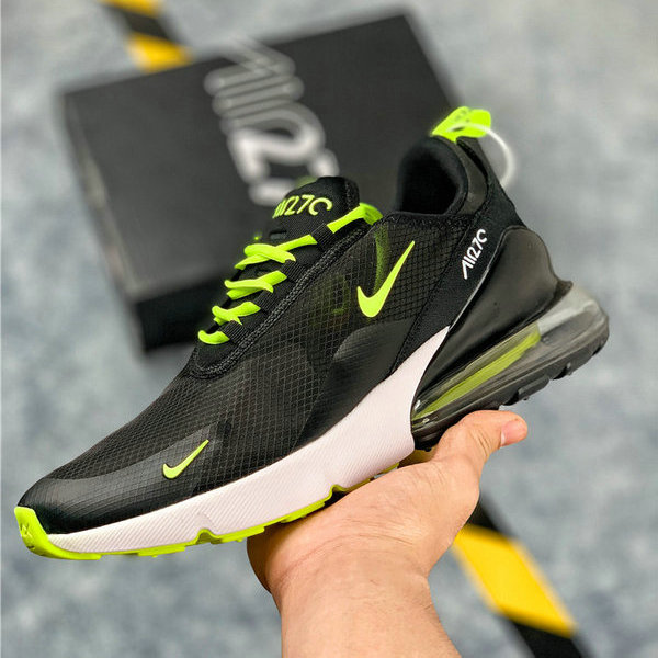 the best attitude 94ca5 60b58 Nike Air Max 270 Black White Green Mens Women's Casual Shoes NIKE-ST006268