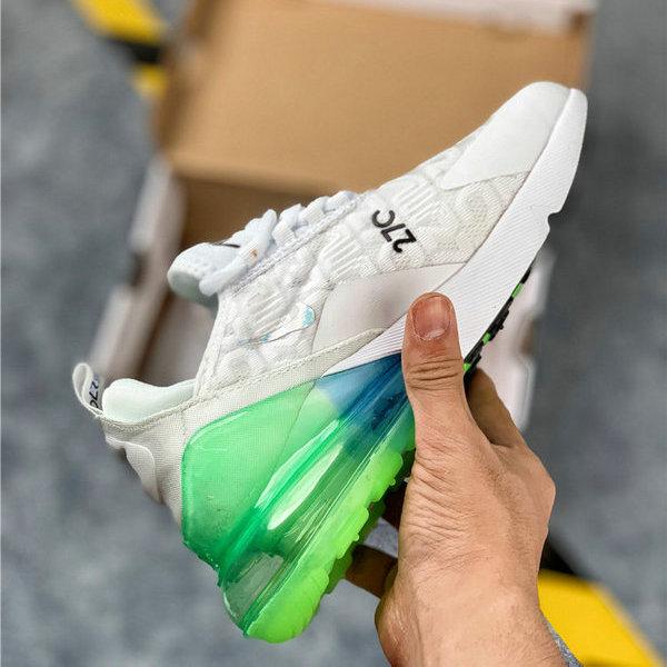 Nike Air Max 270 Black White Green Womens Mens Casual Shoes NIKE ST006276