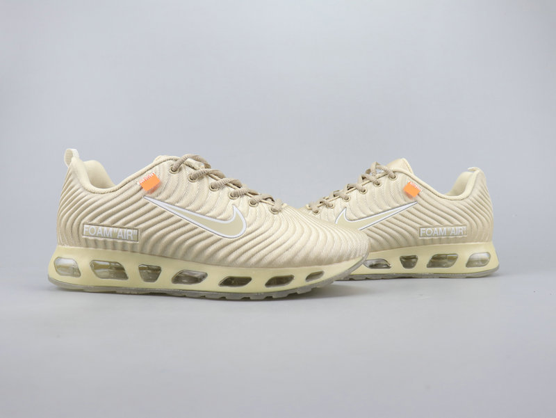new product 25a11 19846 OFF WHITE x NIKE AIR MAX FOAM 2019 Beige Men's Running Shoes NIKE-ST006146