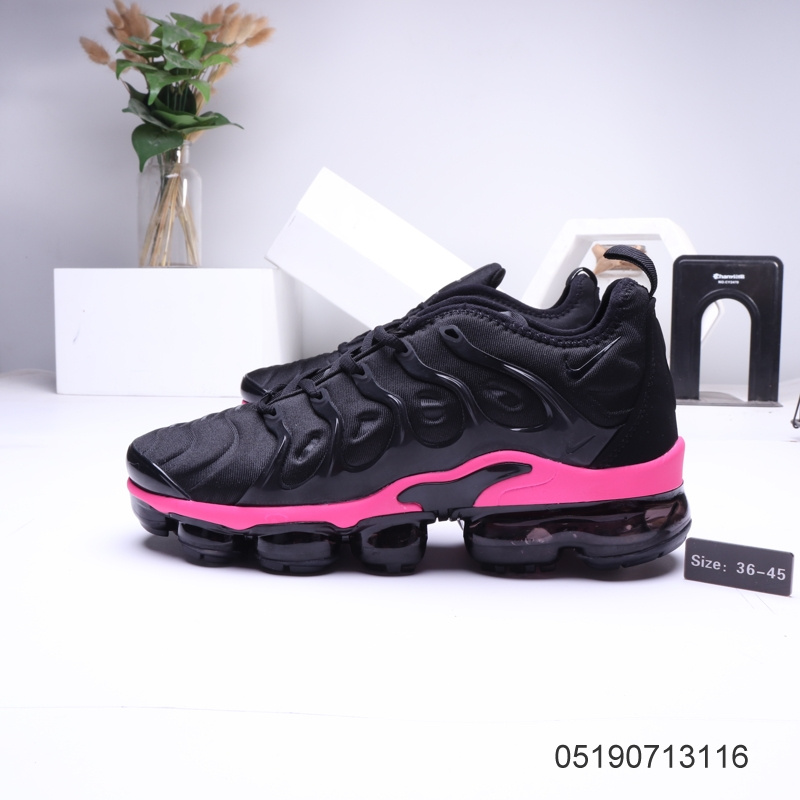 new product 65c3e ce5a1 Nike Air VaporMax Tn Black Pink Womens Men's Running Shoes NIKE-ST006314