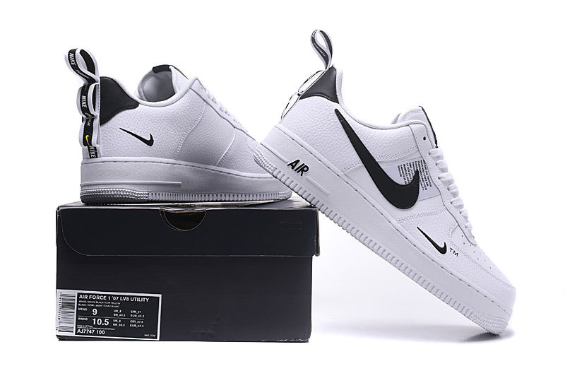 Nike Air Force 1 LV8 Utility White Black AJ7747 100 Women's Men's Sneakers AJ7747 100a