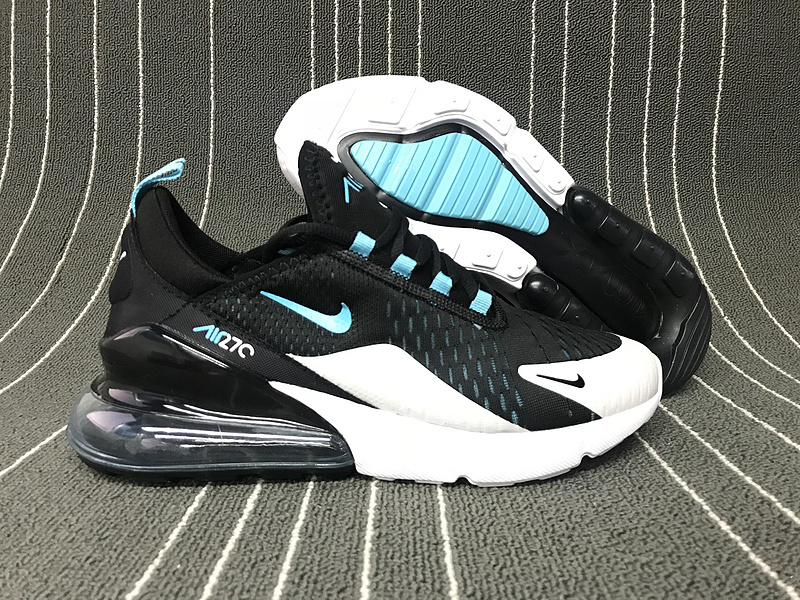 detailed look 22e5c 8c8ab Nike Air Max 270 Black Grey Blue White Men's Casual Shoes NIKE-ST006170