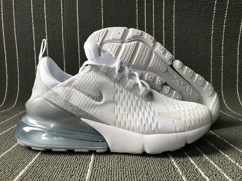 Nike Air Max 270 Pure Platinum White Men's Women's Casual Shoes NIKE ST006162
