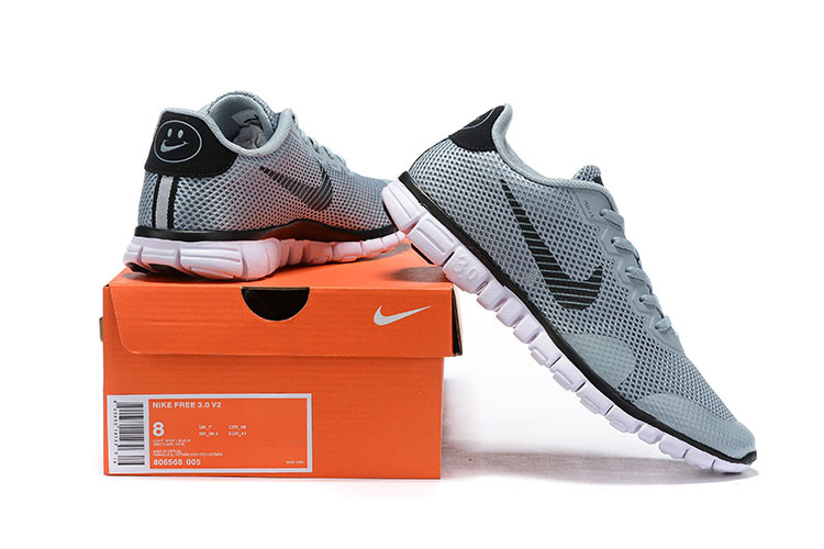 designer fashion da766 90024 Nike Free Rn Flyknit 2019 Black White Gray Men's Running Shoes NIKE ...