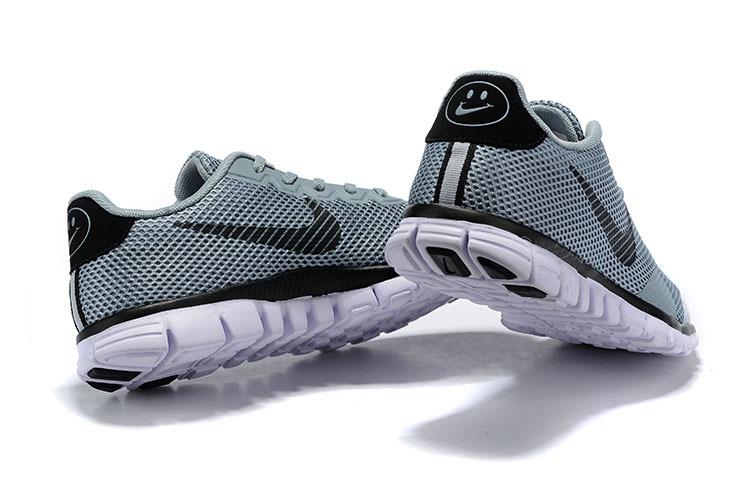 timeless design d2fb6 2fc02 Nike Free Rn Flyknit 2019 Black White Gray Men's Running Shoes NIKE-ST006262