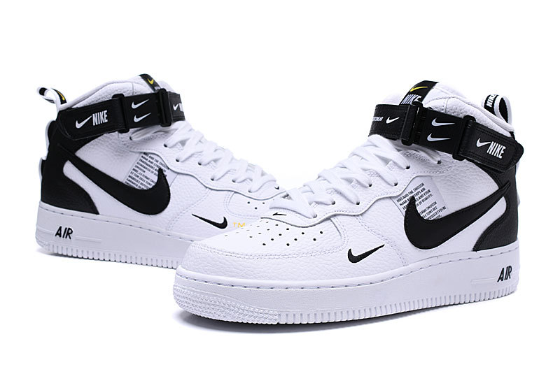 online store e89c9 11ca5 Nike Air Force 1 Mid Utility White/Tour Yellow/Black 804609 103 Women's  Men's Sneakers 804609-103
