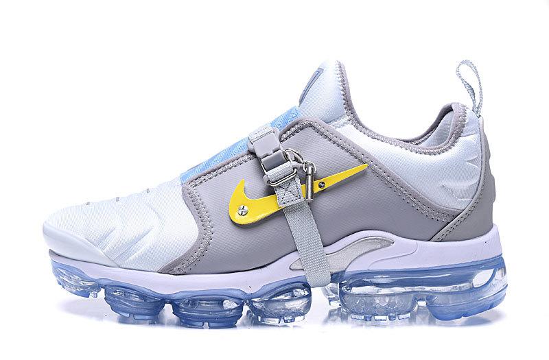 timeless design bb882 8eb70 Nike Air VaporMax Tn White Gray Men's Running Shoes NIKE-ST006307