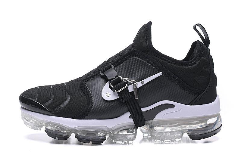 the latest dfa2c 71231 Nike Air VaporMax Tn Black White Men's Running Shoes NIKE-ST006306