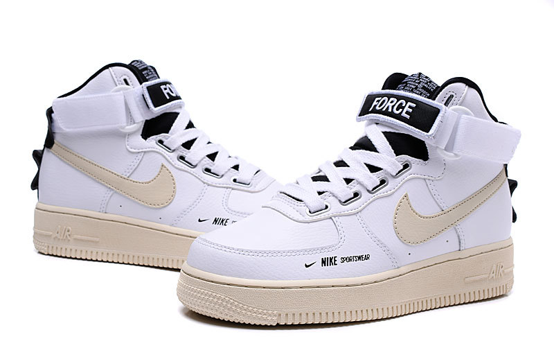 Nike Air Force 1 High Utility WhiteLight CreamBlack AJ7311 100 Women's Sneakers AJ7311 100b