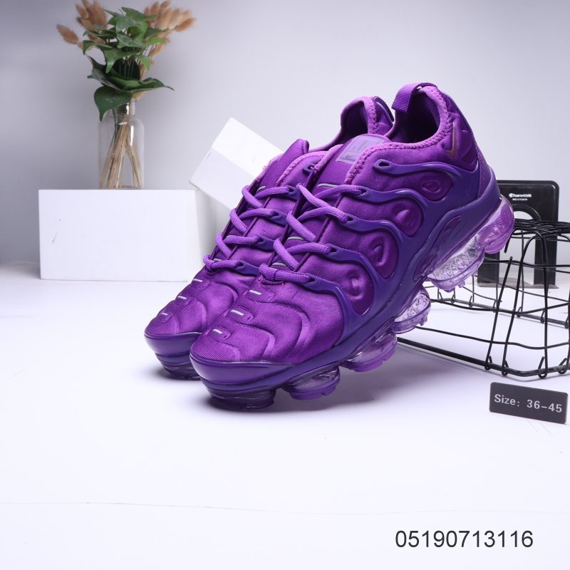 best website 61f72 a3356 Nike Air VaporMax Tn Purple Womens Men's Running Shoes NIKE-ST006312