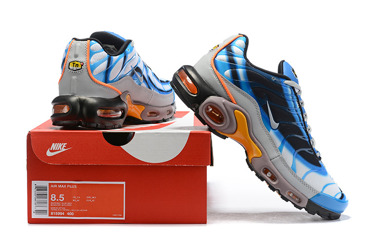 best website 517f2 febc4 Mens Nike Wmns Air Max Plus TN Se Blue Orange Black White Males Running  Shoes NIKE-ST006068