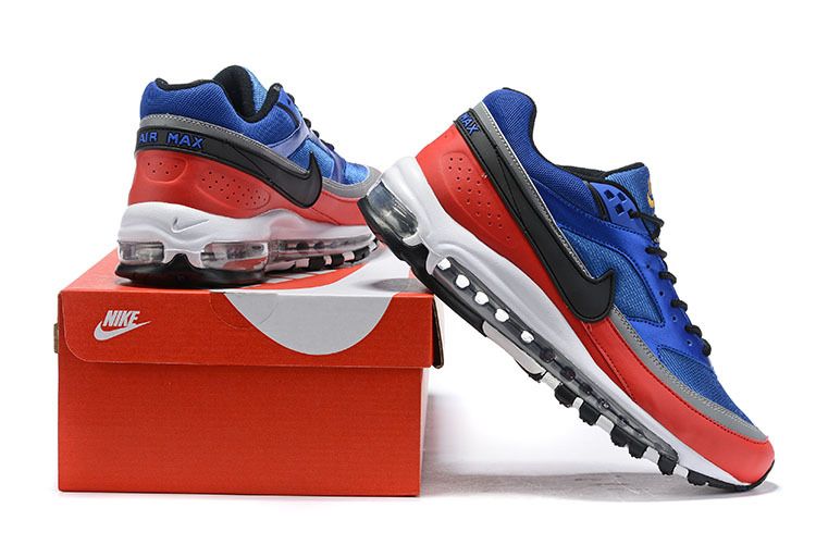 premium selection 65c86 4f0a3 Nike Air Max 97 BW Deep Royal Blue Black University Red AO2406-400 Men's  Casual Shoes Sneakers AO2406-400