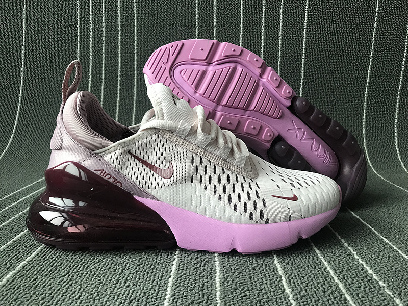 new style 9776e f9af0 Nike Air Max 270 Wolf Grey Purple Women's Casual Shoes NIKE-ST006171