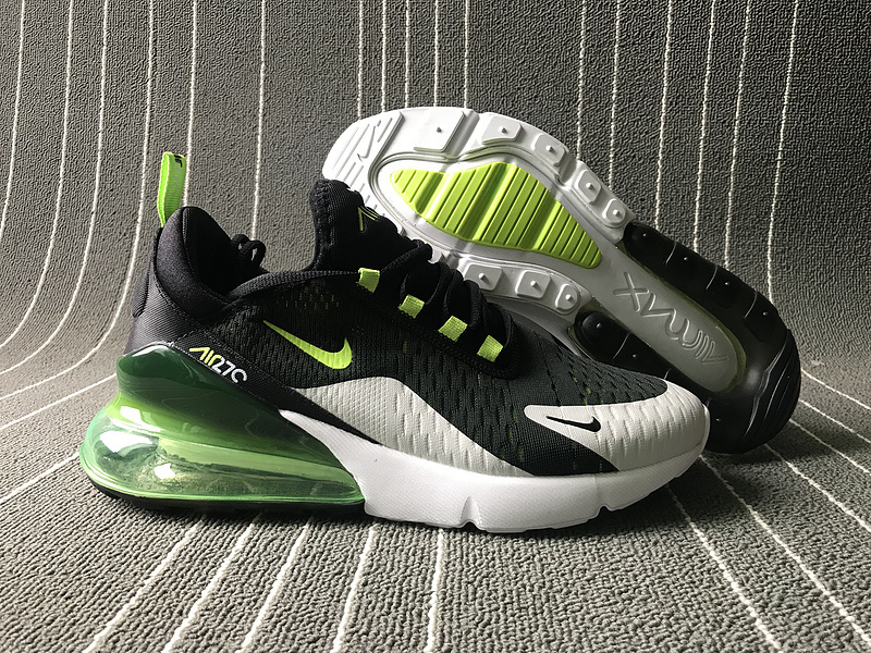 the best attitude a75e7 92396 Nike Air Max 270 Black Green White Men's Casual Shoes NIKE-ST006155