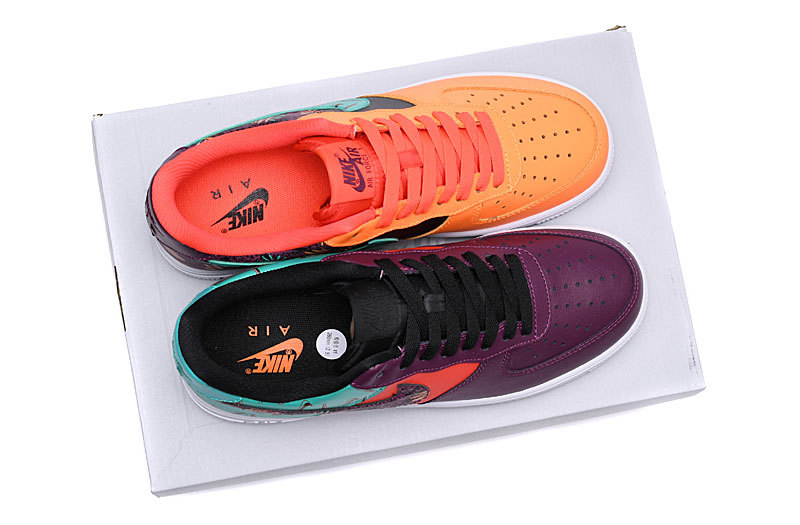 design intemporel 7ab60 9bd85 Nike Air Force 1 What The 90s Bordeaux/Hyper Jade-Total Orange-Black  AT3407-600 Women's Men's Sneakers AT3407-600A