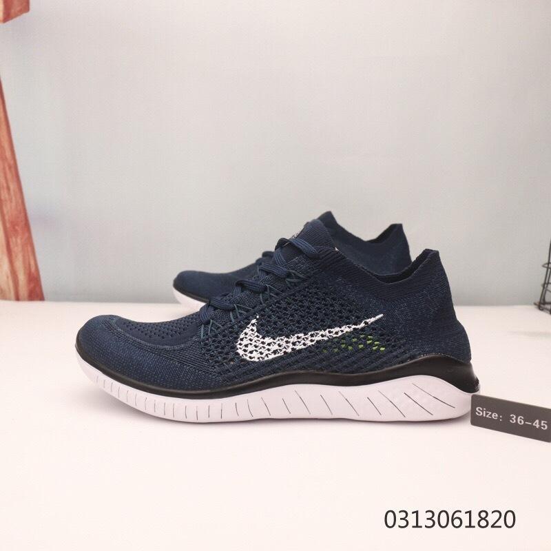 size 40 a07e2 a9df8 Nike Free RN Flyknit 5. 0 Navy Blue White Men's Women's Running Shoes  NIKE-ST006221