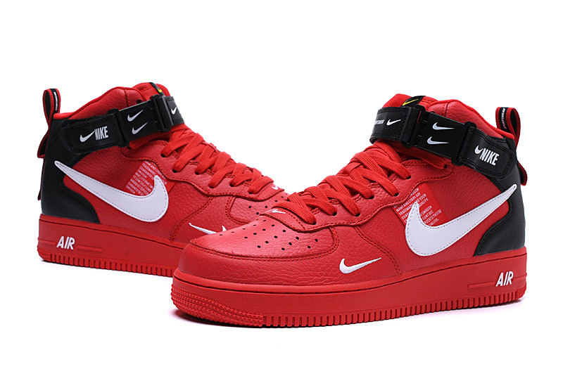 meet 87867 99462 Nike Air Force 1 Mid '07 Lv8 University Red/White-Black 804609 605 Women's  Men's Sneakers 804609-605